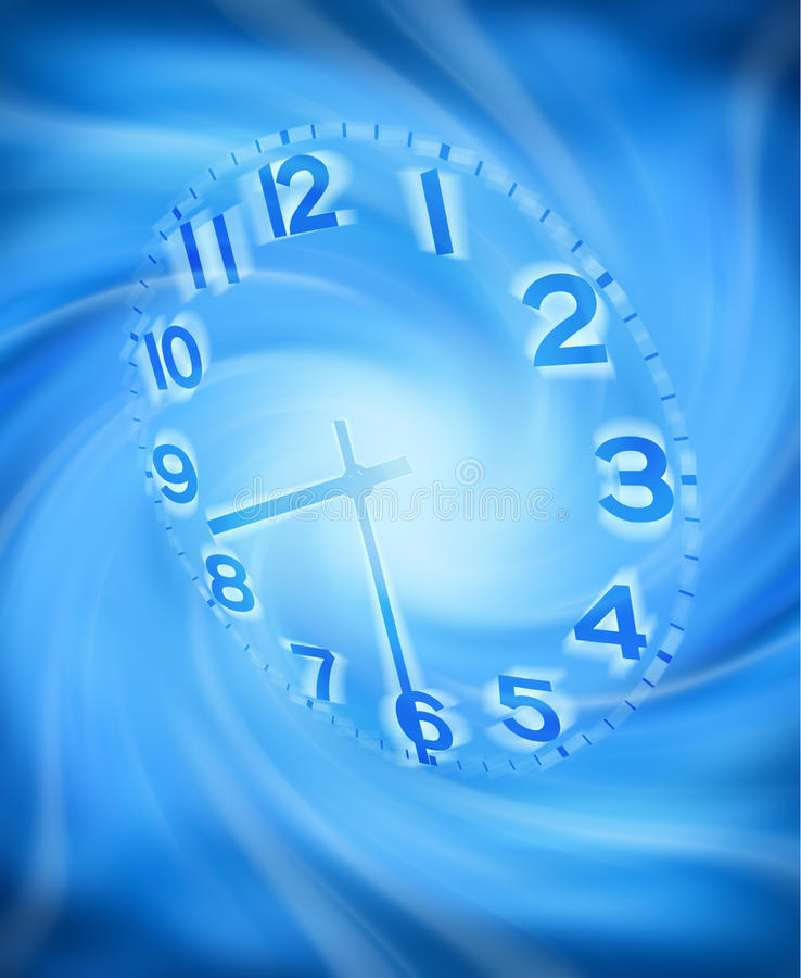Fondo abstracto del tiempo de reloj libre illustration