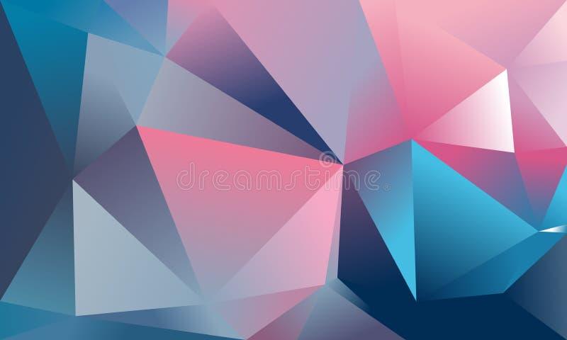 Fondo abstracto del triángulo stock de ilustración