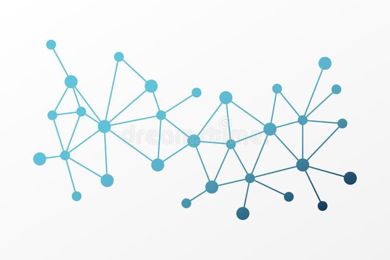 Fondo abstracto del triángulo del vector Modelo polivinílico de la red Líneas y ejemplo de la conexión de los círculos para la ci libre illustration