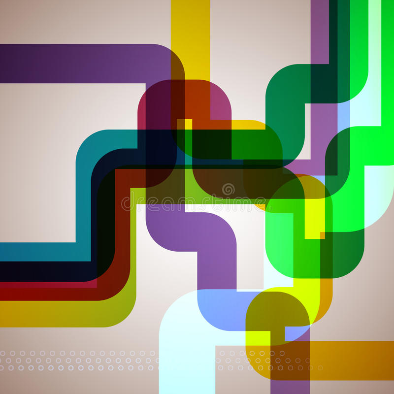 Fondo abstracto del tubo. ilustración del vector