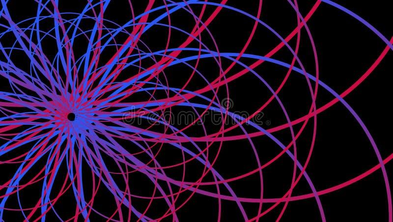 Fondo abstracto del vaporwave de Synthwave, gran diseño para cualquier propósitos fondo retro 80s Papel pintado colorido Vector ilustración del vector
