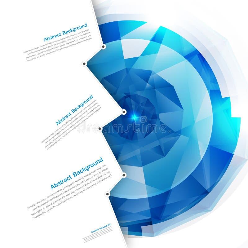 Fondo abstracto del vector. Azul del polígono stock de ilustración
