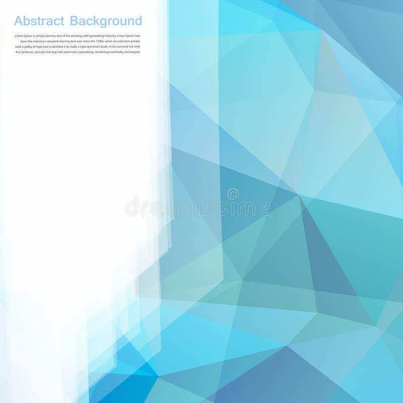Fondo abstracto del vector. Azul y tarjeta del polígono stock de ilustración