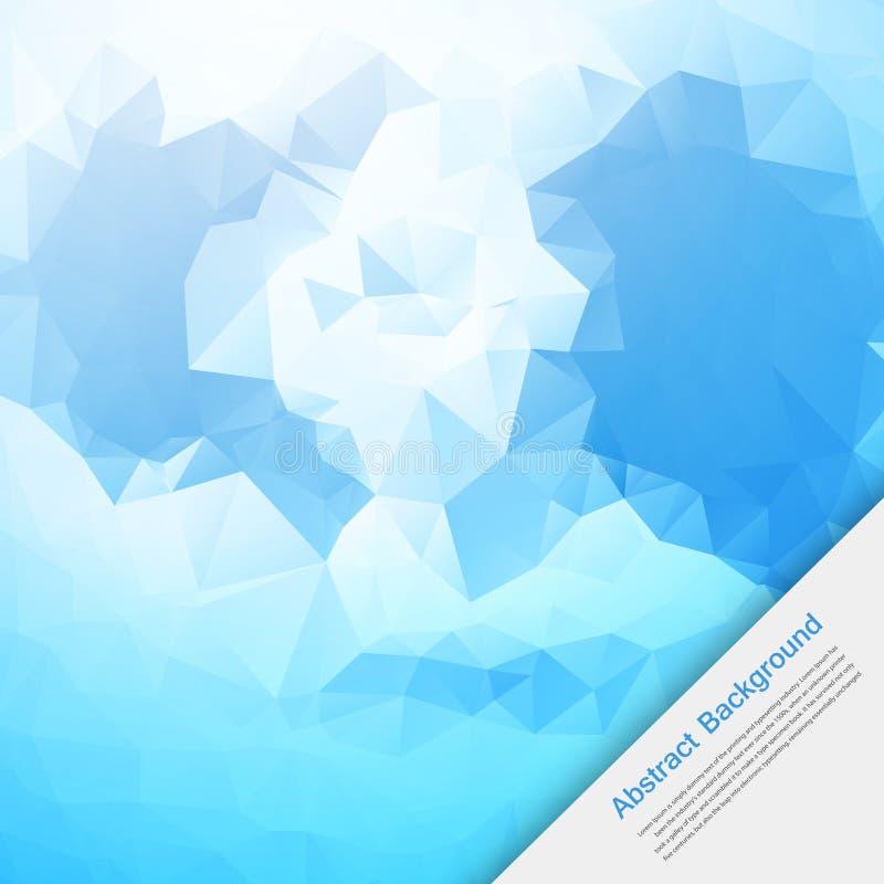 Fondo abstracto del vector. Azul y tarjeta del polígono ilustración del vector