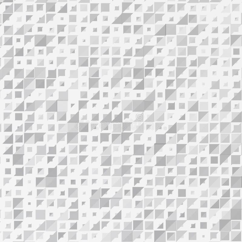 Fondo abstracto del vector blanco del triángulo stock de ilustración