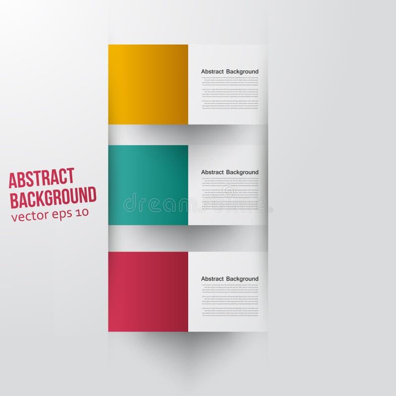 Fondo abstracto del vector. Color cuadrado libre illustration