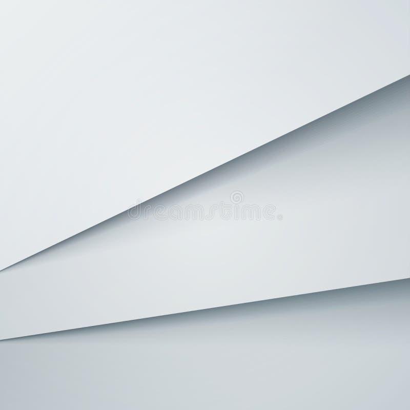 Fondo abstracto del vector con capas del Libro Blanco stock de ilustración