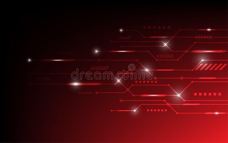 Fondo abstracto del vector con concepto de alta tecnolog?a de la placa de circuito stock de ilustración