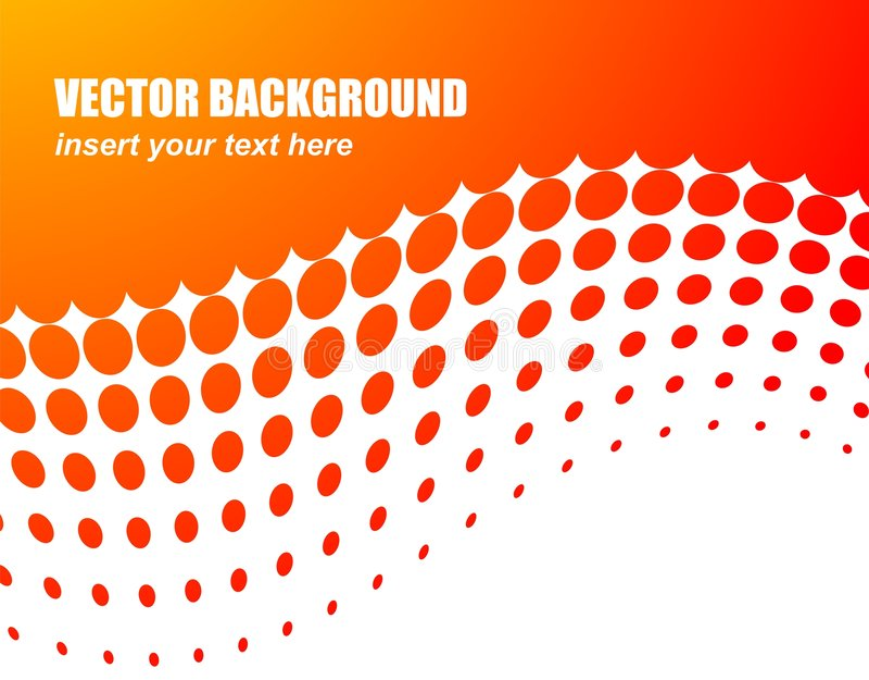 Fondo abstracto del vector con el círculo anaranjado libre illustration
