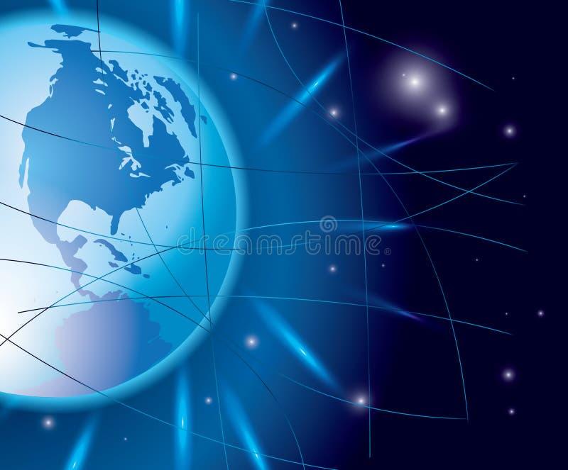 Fondo abstracto del vector con el globo libre illustration