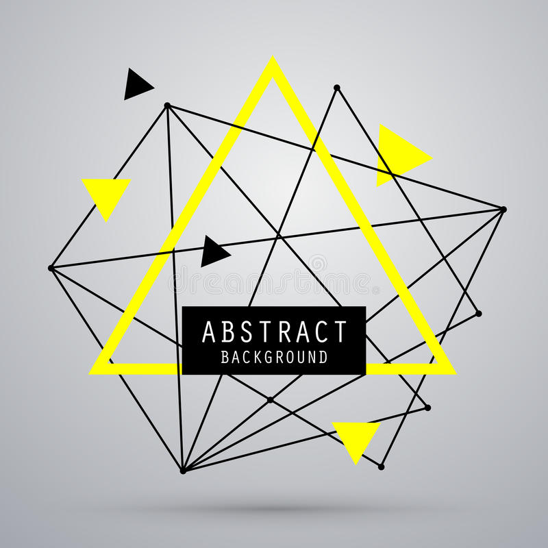 Fondo abstracto del vector con el triángulo fotografía de archivo