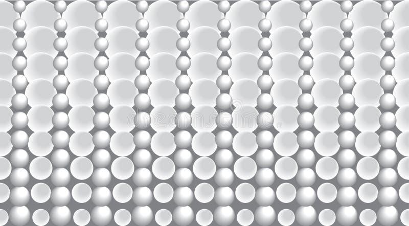 Fondo abstracto del vector con las burbujas stock de ilustración