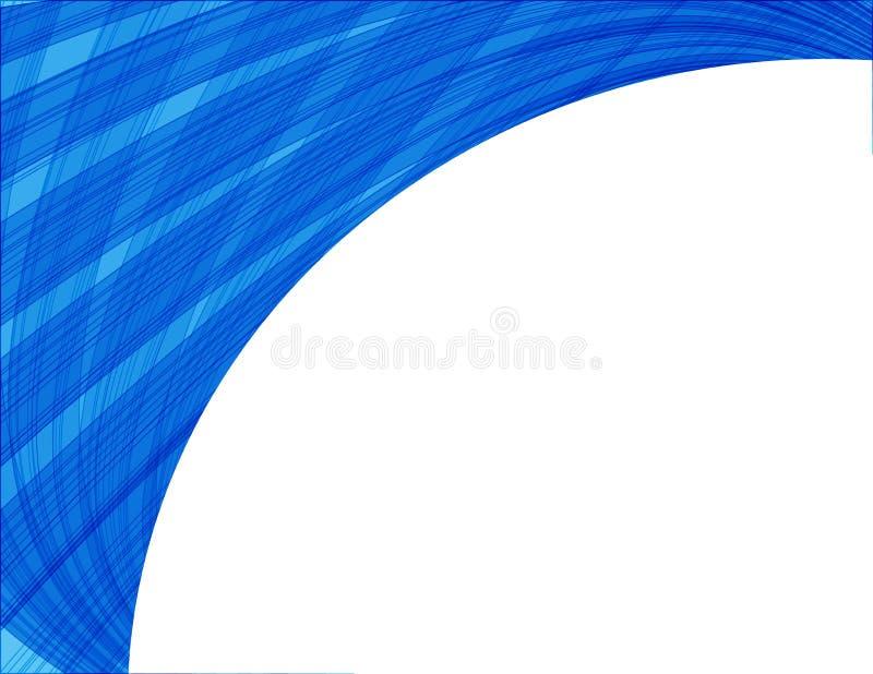 Fondo abstracto del vector con las ondas stock de ilustración