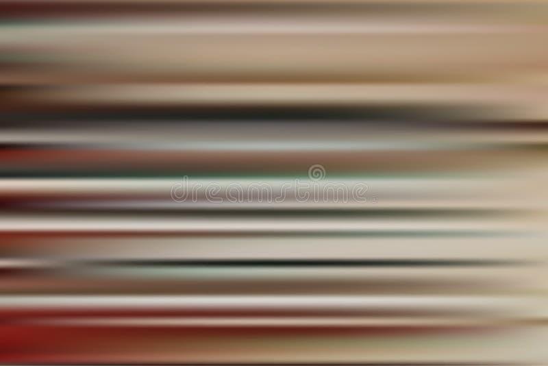 Fondo abstracto del vector con las rayas marrones stock de ilustración