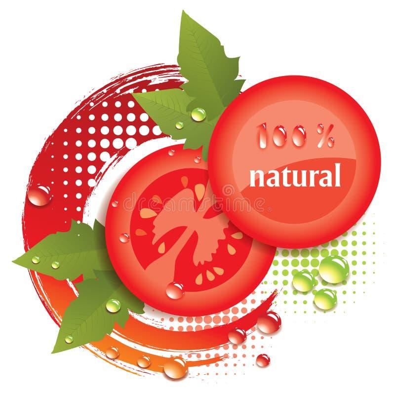 fondo abstracto del vector con los tomates ilustración del vector