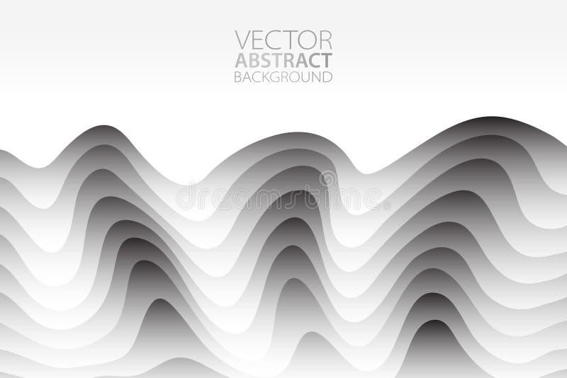 Fondo abstracto del vector Contexto acodado del efecto Textura de Minimalistic con adorno ondulado Bandera, aviador, plantilla de libre illustration