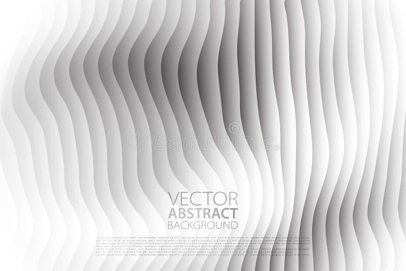 Fondo abstracto del vector Contexto acodado del efecto Textura de Minimalistic con adorno ondulado Bandera, aviador, plantilla de ilustración del vector