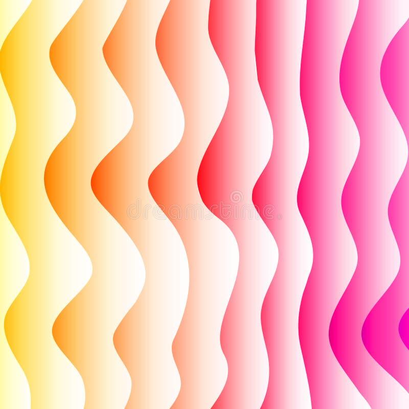 Fondo abstracto del vector Contexto acodado del efecto Textura de Minimalistic con adorno ondulado Bandera, aviador, plantilla de stock de ilustración