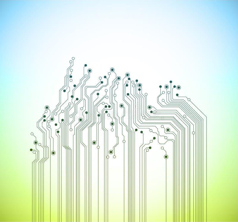 Fondo abstracto del vector de la primavera de la tecnología stock de ilustración