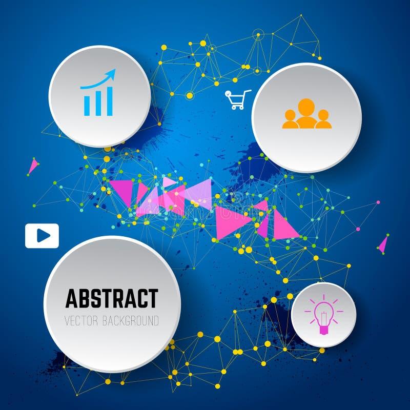 Fondo abstracto del vector de puntos y de líneas Infographic libre illustration