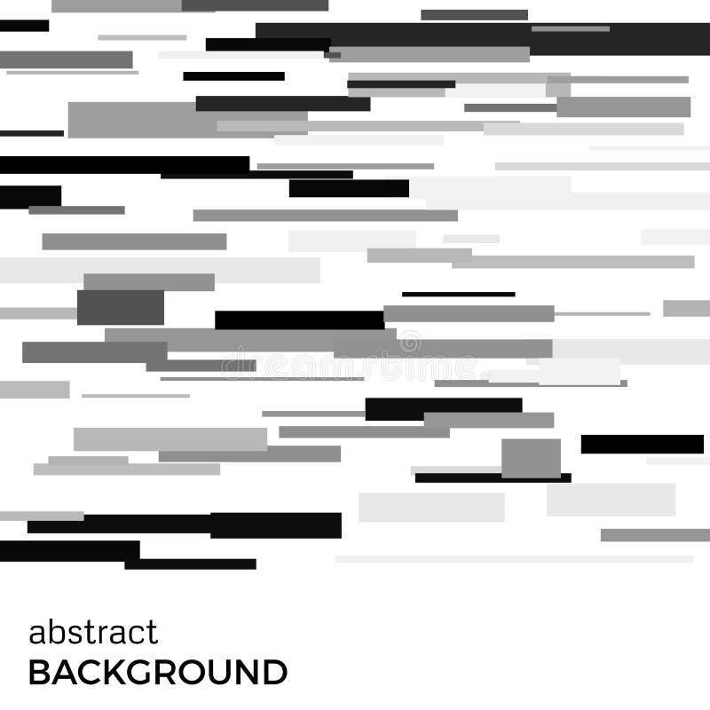 Fondo abstracto del vector de rectángulos blancos y negros de diversos tamaños ilustración del vector