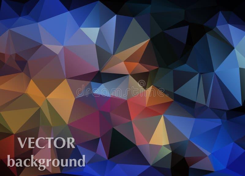 Fondo abstracto del vector del papel pintado del polígono de los triángulos Web d stock de ilustración