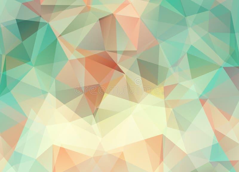 Fondo abstracto del vector del papel pintado del polígono de los triángulos Web d ilustración del vector