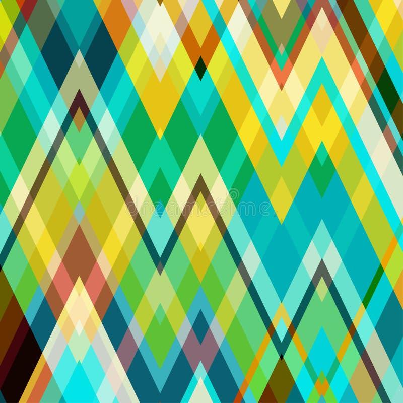 Fondo abstracto del vector del zigzag del color libre illustration