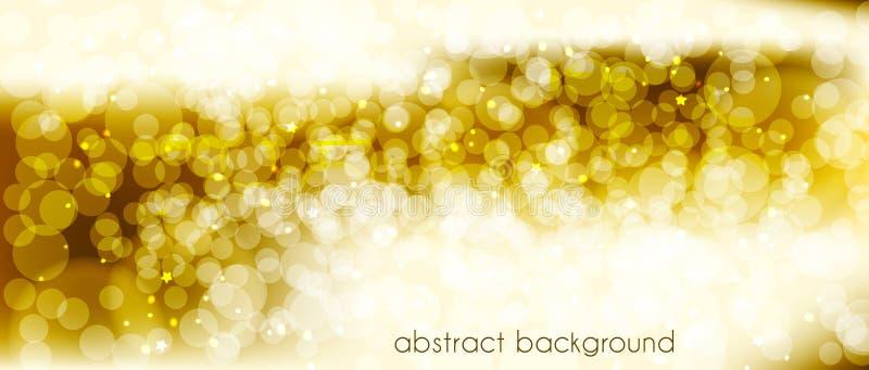 Fondo abstracto del vector en tonos del oro Contexto para adornar el jefe del ` s del sitio, bandera, tarjetas del día de fiesta, stock de ilustración