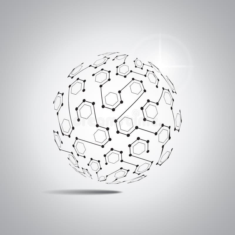 Fondo abstracto del vector Estilo futurista de la tecnología Fondo elegante para las presentaciones de la tecnología del negocio ilustración del vector