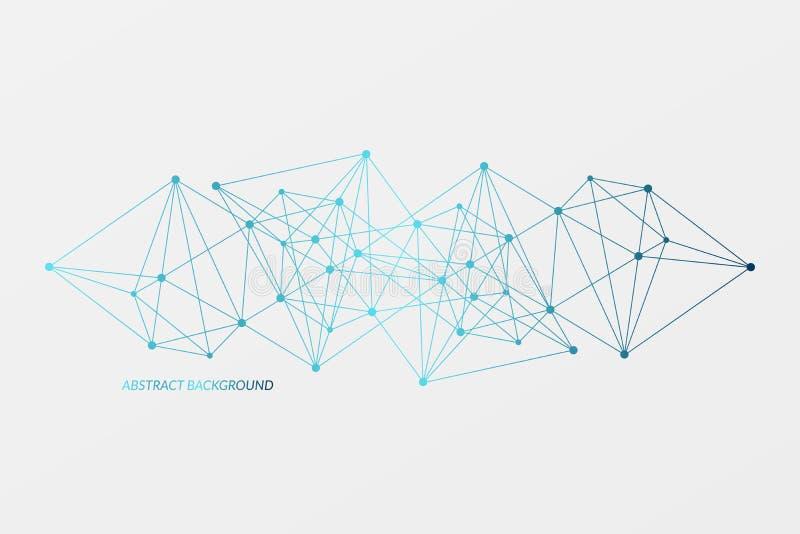 Fondo abstracto del vector Modelo del triángulo de la red Fondo para de los nervios, neto, estructura de la molécula, ciencia libre illustration