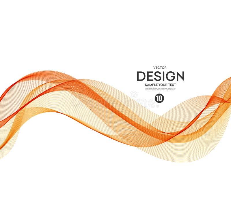 Fondo abstracto del vector, ondulado anaranjado libre illustration