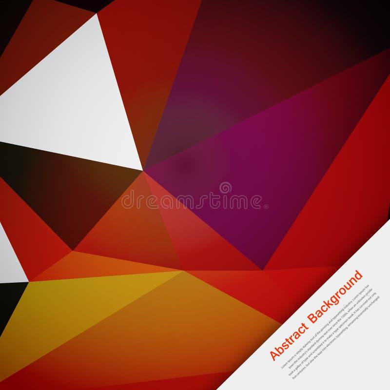 Fondo abstracto del vector. Rosa y tarjeta del polígono stock de ilustración