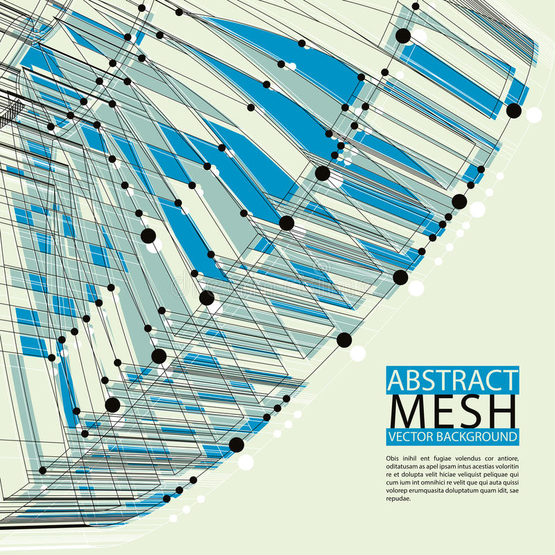 Fondo abstracto del vector, tecnología moderna del estilo y ciencia libre illustration