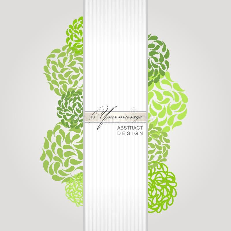 Fondo abstracto del verde de la bandera del vector ilustración del vector