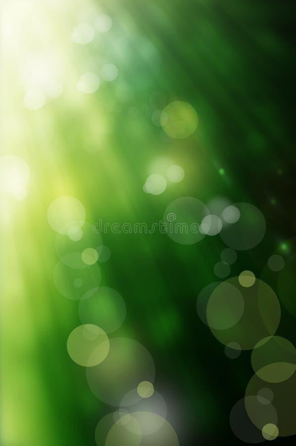 Fondo abstracto del verde del resorte stock de ilustración