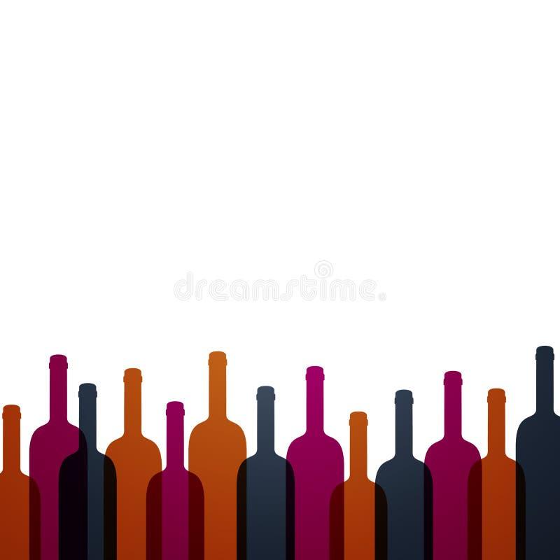 Fondo abstracto del vino stock de ilustración