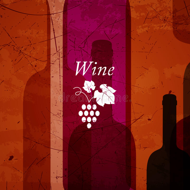 Fondo abstracto del vino libre illustration