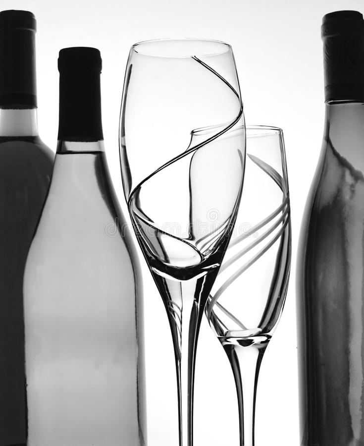 Fondo abstracto del vino de B&W fotografía de archivo