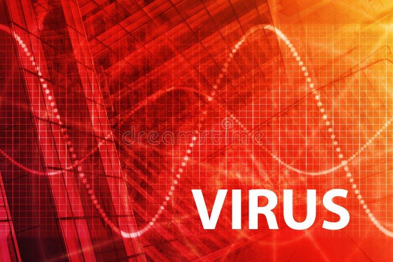 Fondo abstracto del virus stock de ilustración