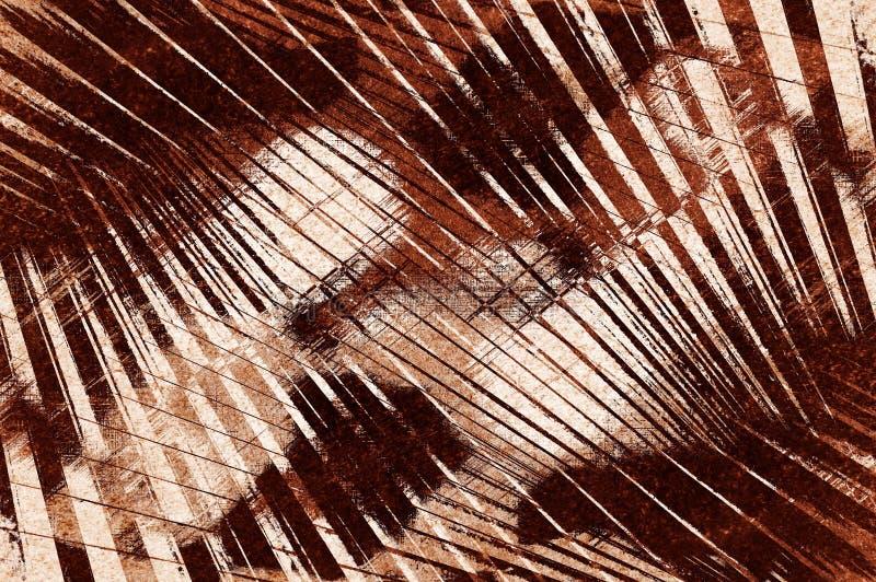 Fondo abstracto desigual del modelo del marrón del grunge del arte stock de ilustración