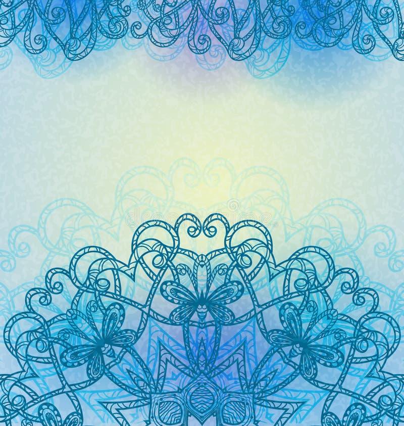 Fondo abstracto dibujado mano. ilustración del vector