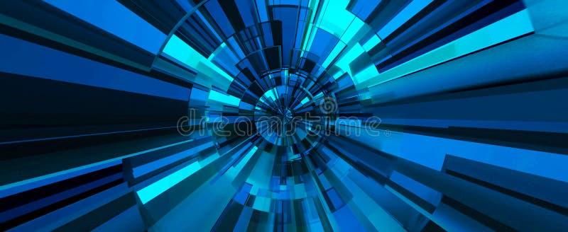 Fondo abstracto digital azul ilustración 3D ilustración del vector