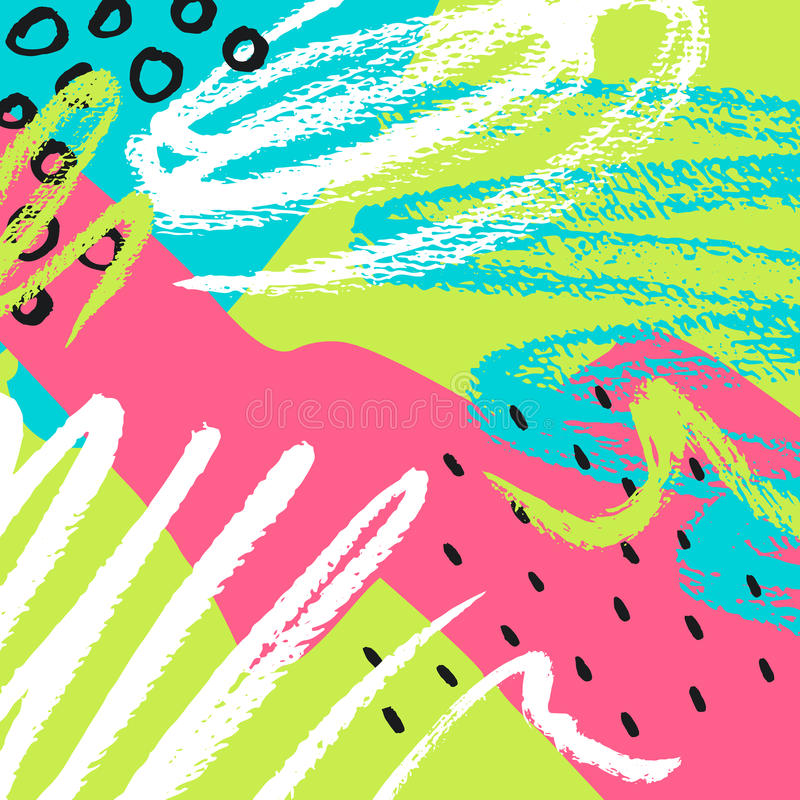 Fondo abstracto drenado mano Ilustración del vector libre illustration