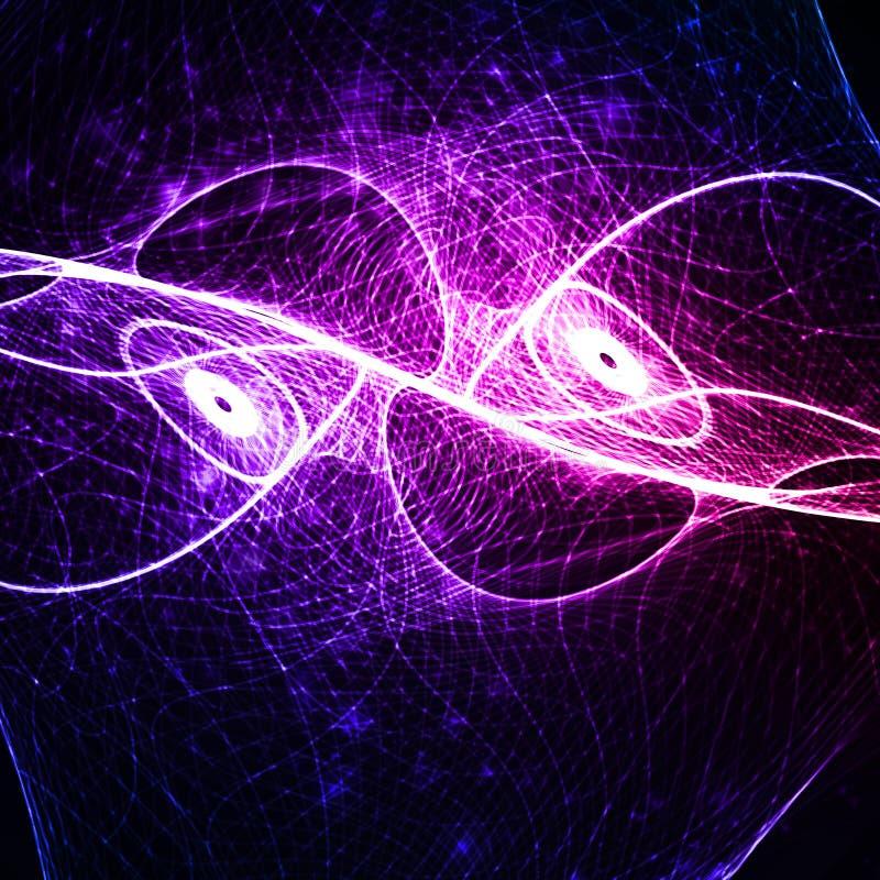Fondo abstracto, ejemplo futurista de la onda. libre illustration