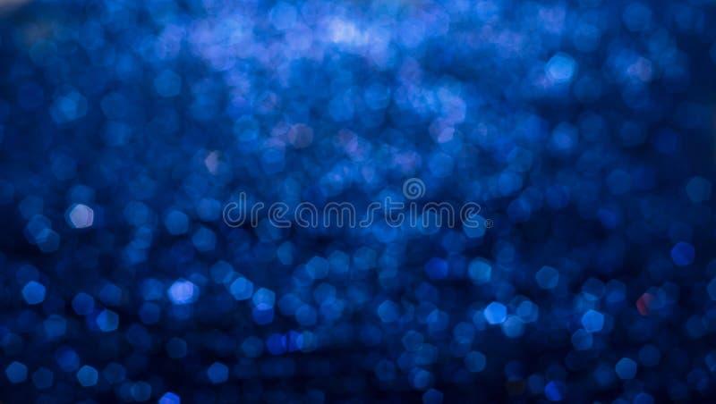 Fondo abstracto elegante azul del bokeh foto de archivo