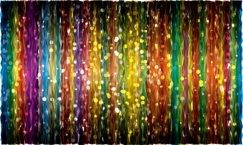 Fondo abstracto elegante del bokeh (cortina divertida) libre illustration