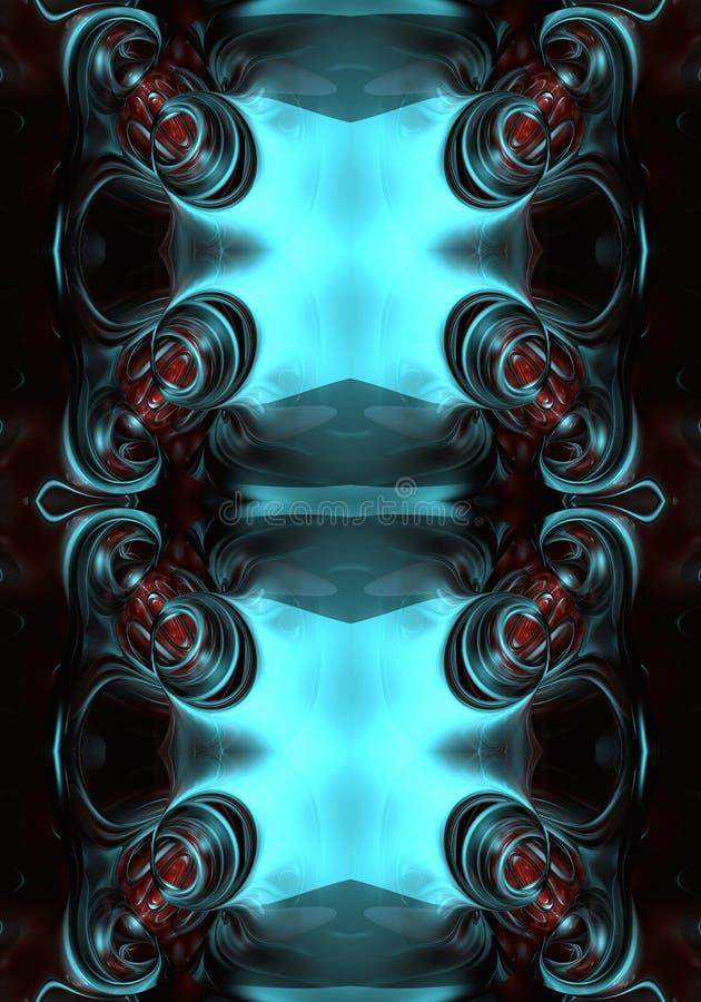 fondo abstracto enérgico brillante futurista multicolor único artístico generado por ordenador de las ilustraciones de los fracta stock de ilustración