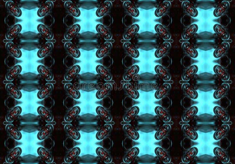 fondo abstracto enérgico brillante futurista multicolor único artístico generado por ordenador de los modelos de los fractales 3d stock de ilustración