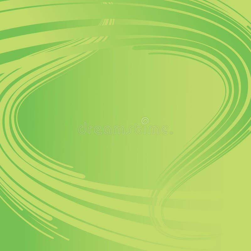 Fondo abstracto en color verde ilustración del vector